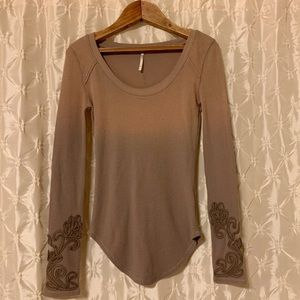 Free People Masquerade Thermal Waffle Knit Top